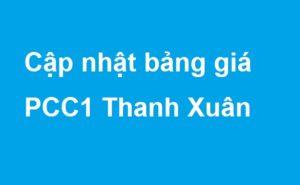 Bảng giá đợt 1 dự án PCC1 Thanh Xuân