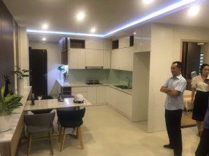 Không gian khu bếp căn hộ mẫu PCC1 Thanh Xuân